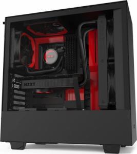 NZXT H511 schwarz/rot mit Glasfenster
