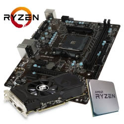 GAMING SPARSET MSI A320M Pro-VD/S + Ryzen 3 1200 + RX560