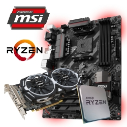 GAMING SPARSET MSI B450-A Pro + Ryzen 5 2600 + RX580
