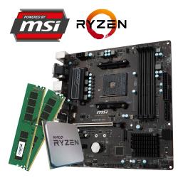 GAMING SPARSET MSI B450M Pro-VDH + Ryzen 5 2400G + 8GB